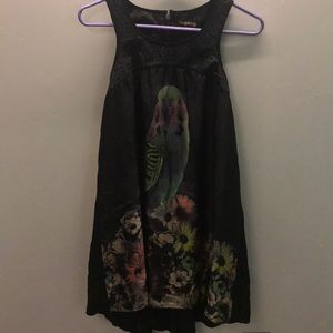 Blue juice parakeet leather dress size xs